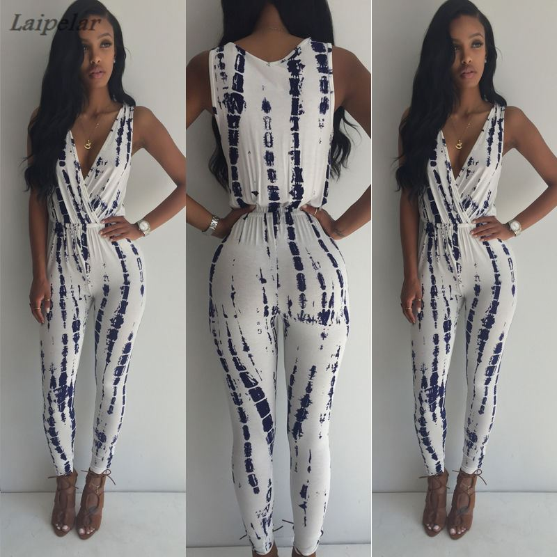 Hot Rompers Women   Jumpsuit   Elegant Overalls   Jumpsuit   Female Summer Playsuit Sleeveless Vintage Printed   jumpsuit   rompers v neck