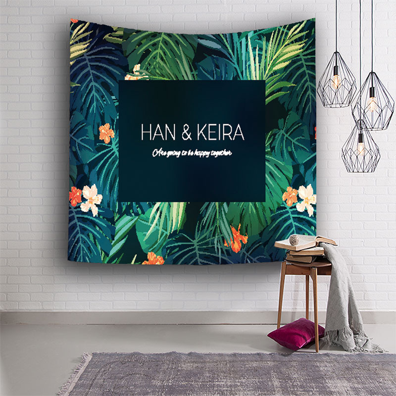 New Tropical Rain Forest Plant Wall Tapestry Home Decorations Wall Hanging Forest Starry Tapestries For Living Room Bedroom