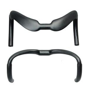 Image 2 - 2017 glossy matt carbon stuur gebogen bar track bar sprinter drop bar ud matt afwerking 31.8mm 375/385mm racing hectische bars