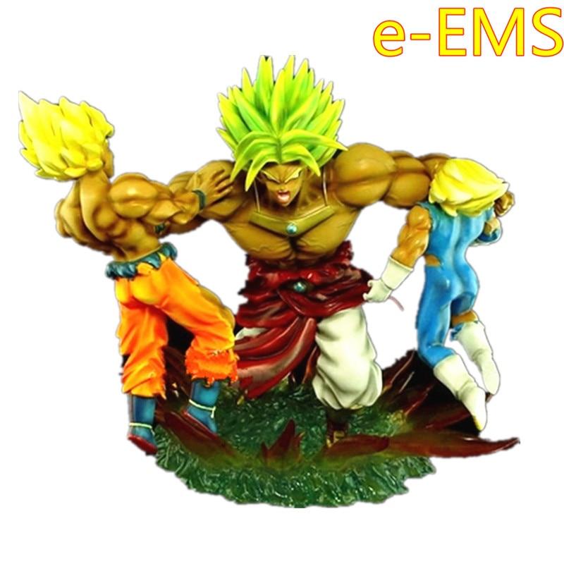 Dragon Ball Super Saiyan Son Goku Vegeta VS Broli Battle Scene Statue Action Figure Collection Model Giocattolo G2292