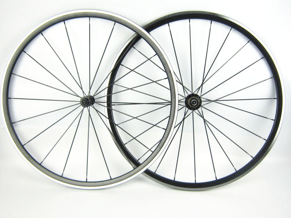 one pair front and rear Road cycling bike wheel 700C kinlin XR300 20/24 holes black 30mm profile bicycle tire