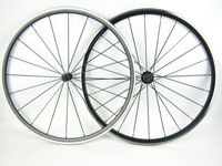 One Pair Front And Rear Road Cycling Bike Wheel 700C Kinlin XR300 20 24 Holes Black