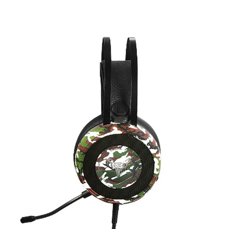 Game headphones Classical camouflage color line control E sport graphene horn 3D stereo surround sound noise cancelling HD voic in Headphone Headset from Consumer Electronics