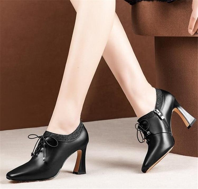 7891ce70 PXELENA-de-cuero-Real-de-las-mujeres-casco-zapatos-de-tacones -altos-de-Primavera-de-2019.jpg