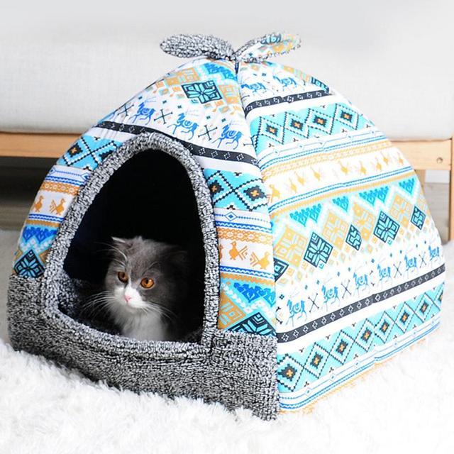 Caldo Morbido Pile Pet Yurta Casa Base Del Cane Cucciolo di Cane Canile Pet Lett