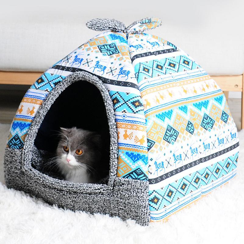 Hot Fleece Soft Cat Bed Puppy Kennel Pet House Beds & Sofas