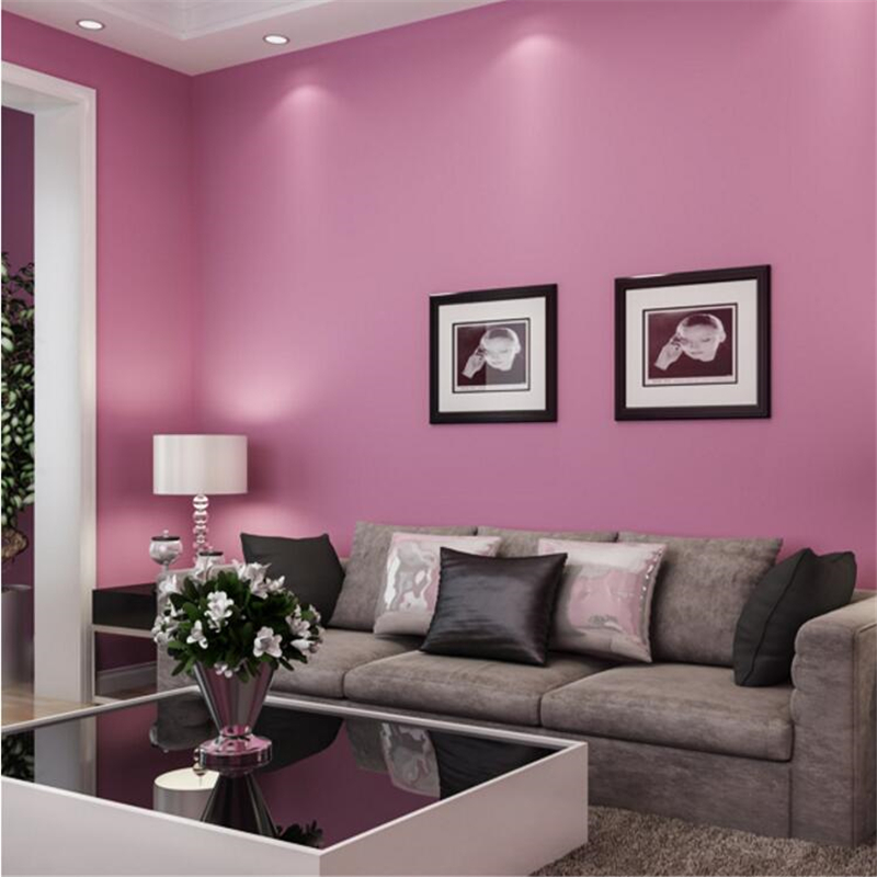 beibehang pure color wallpapers bedroom living room TV background ...