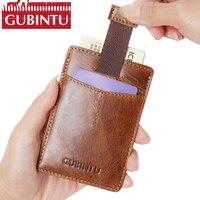2017 New Arrival RFID Creative Card Holder Front Pocket Wallet Minimalist Wallets Leather Slim Wallet RFID