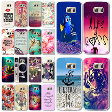 New Fashion Plastic Phone Cases For samsung galaxy s6 Case 3D Beauty Flower Colorful Cartoon Case