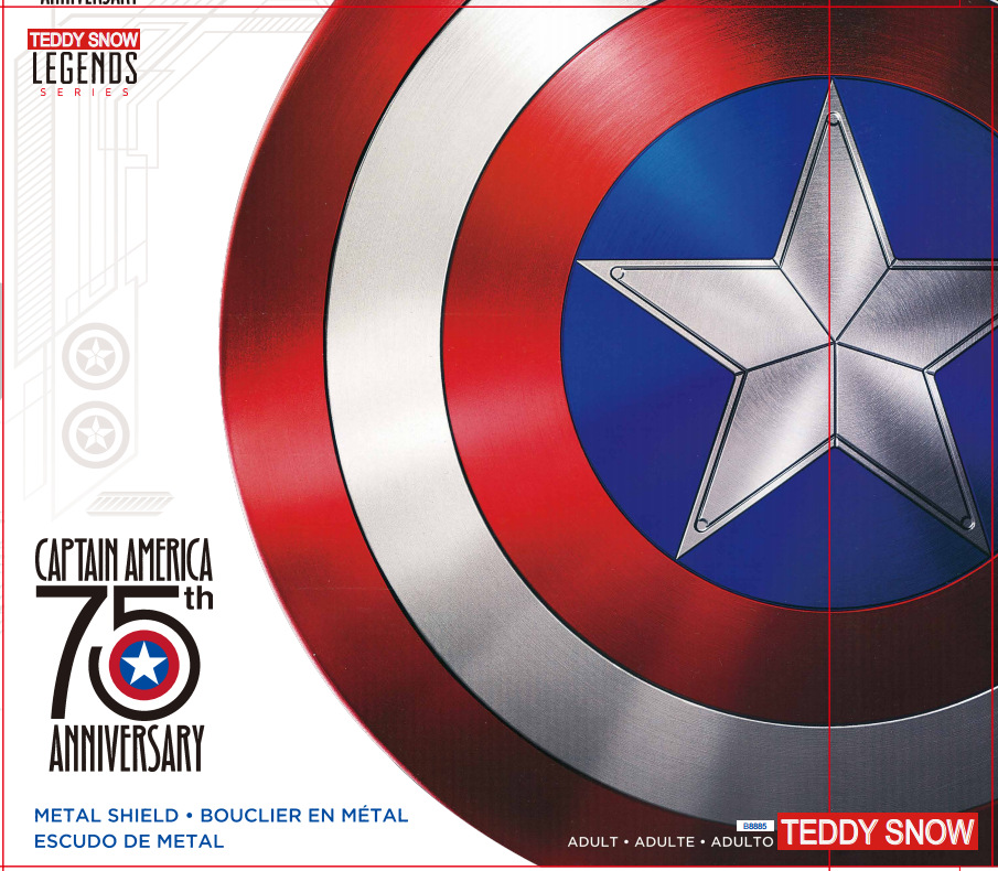 New Marvel Comics Captain America Shield Plastic Chrome Emblem