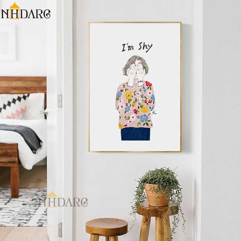 Nordic Abstract Fashion Modern Line Sketch Girl Posters and Prints Wall Art Canvas Pictures For Home Decor Living Room Decor