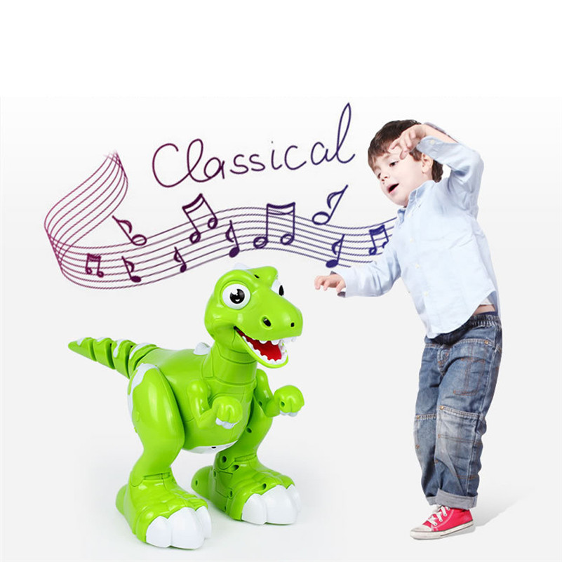 2018 New Items Robot Dinosaur Wireless Remote Control Dinosaur Interactive RC Dinosaur Toy  For Children Birthday Gift B2
