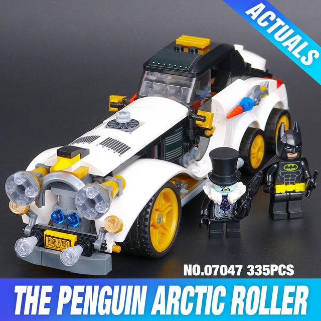 Nuevo 305 Unids Lepin 07047 Genuino Serie Batman El Ártico Guerra Pingüino Coche Clásico Conjunto de Bloques de Construcción Ladrillos Juguetes 70911