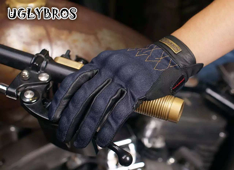 Motocross Gloves Motorbike Gloves Uglybros-515 Spring Motorcycle / Riding They descend Resistance Retro Unisex Touch Screen S-2X free shipping new arrival vintage leather tassel urban retro glove motorcycle motorbike gloves touch screen