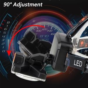 Image 3 - סופר מואר COB LED פנס תיקון אור ראש מנורת USB נטענת עמיד למים פנס 18650 סוללה דיג תאורה