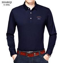 Рубашка поло мужская с длинным рукавом размеры до 10xl