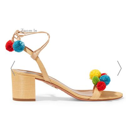 New fashion colorful Pom Pom ball Women Sandals Fashion top strap buckle chunky heel Gladiator Sandal large size 4pcs new for ball uff bes m18mg noc80b s04g
