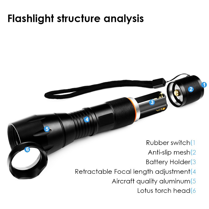 Led Flashlight 8000LM