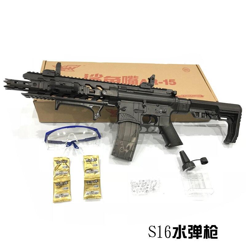 Jouet Pistolet M4A1 Airsoft Pistolets À Air Et AR15 Jouet Mitraillette 621 pcs Building Block Brique Enfants En Plein Air Jeu Modèle CS Cosplay #75