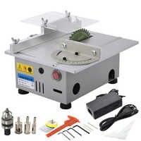 Mini Tisch Sah Handgemachte Holzbearbeitung DIY Modell Elektrische Polieren Schneiden Werkzeug Aluminium Legierung Kreissäge Klinge 7000 rpm DC24V