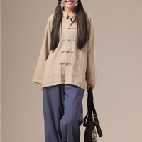 Chaos In The Original 2015 Jiangnan Folk Style Chinese Style Collar Shirt Coat Blouse With Men