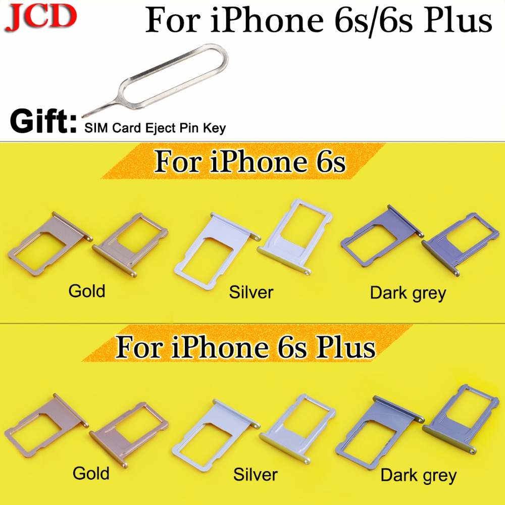 JCD Randomly Color SIM Card Tray Holder Slot for Iphone  6s 6s Plus 6sPlus SIM Holder Slot Tray Container Adapter for iPhone 6s