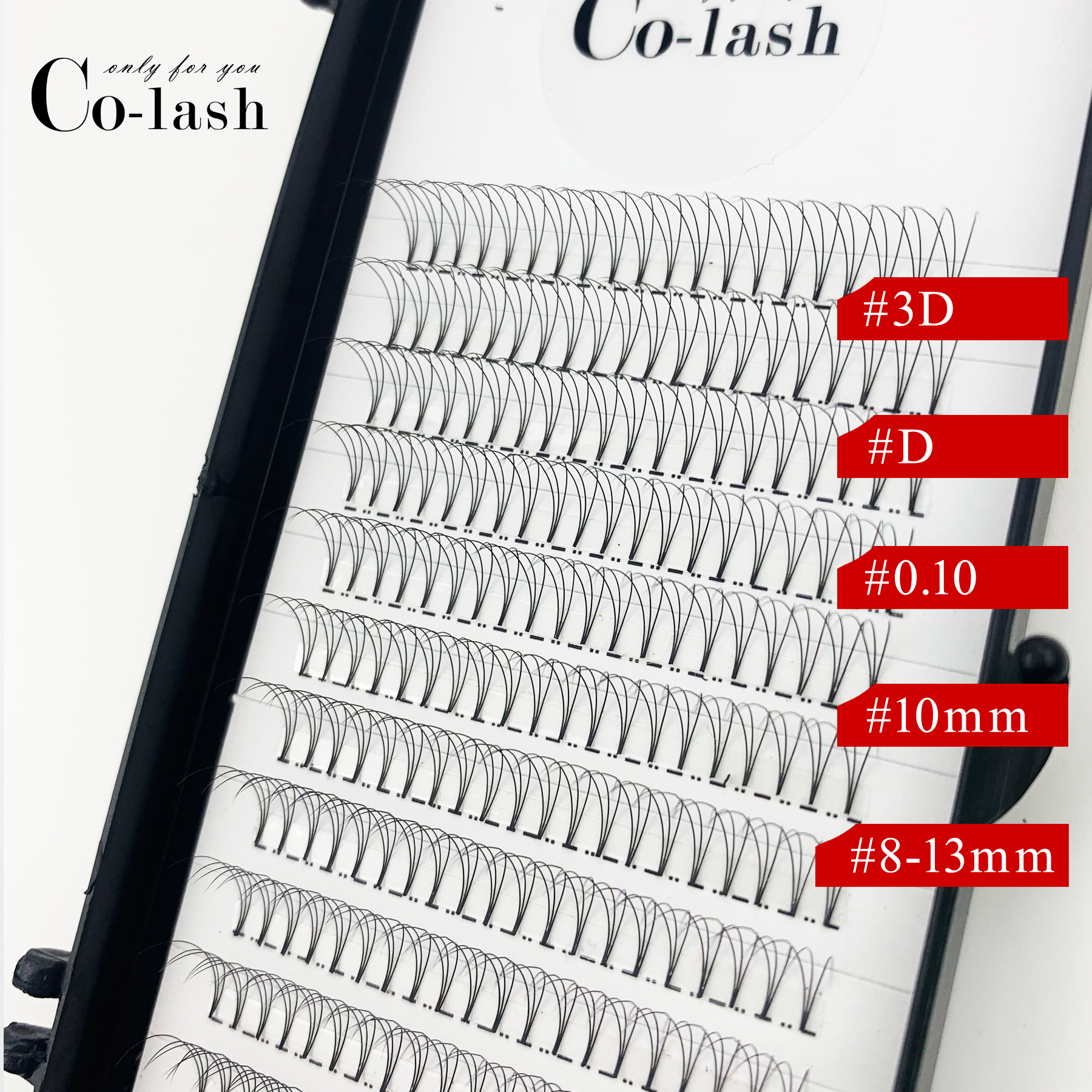 Colash 1 Box Russian Volume Eyelash 3D Eyelash Extensions 0.10mm Thickness D Curl Mink Strip Eyelashes Individual Lashes
