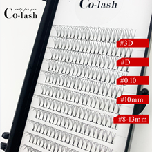Colash 3D Russian Volume color Eyelashes Extension C Curl D Pre made Fans Lash Hot Selling Eyelash Individual Extensions