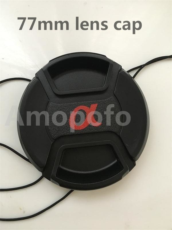 Hot Selling New for Sony AF 77mm lens cap, Center Pinch Snap-on Front - Camera and Photo