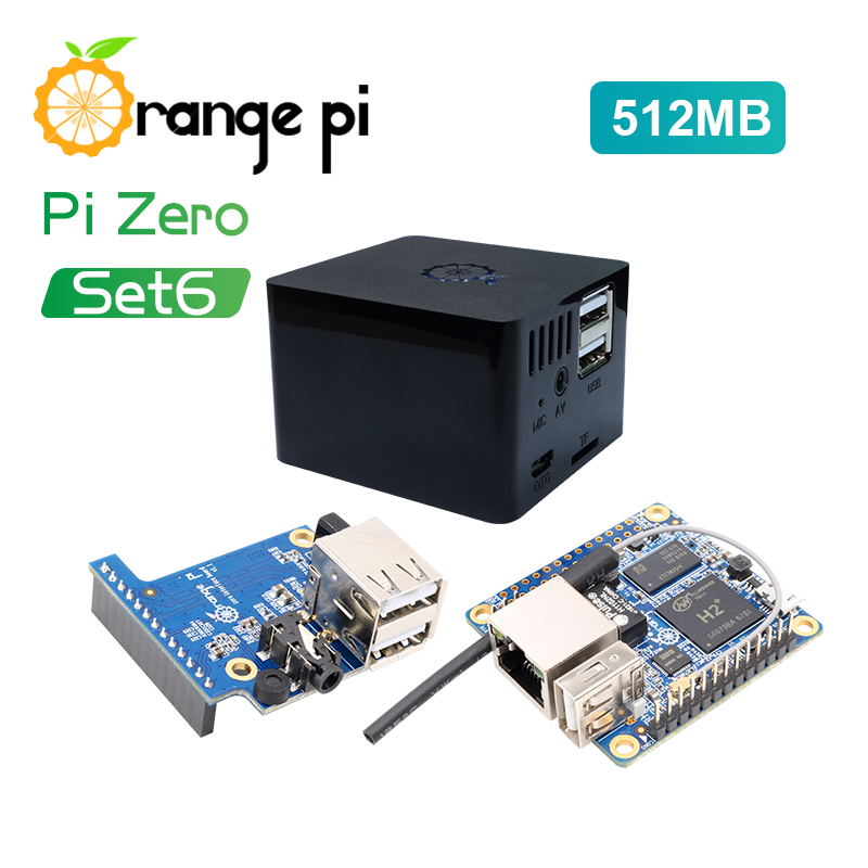 New Orange Pi Zero Set 6:Orange Pi Zero 512MB+Expansion Board+Black Case development board beyond Raspberry Pi  tartan