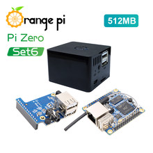 Orange Pi Zero Set 6:OPI Zero 512MB+Expansion Board+Black Case(China)