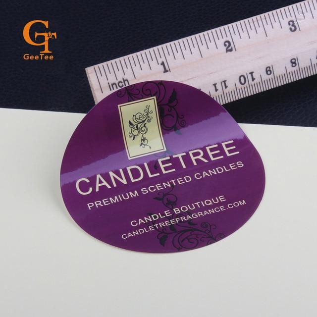 Custom shape logo brand name paper self adhesive stickersdie cut vinyl stickers