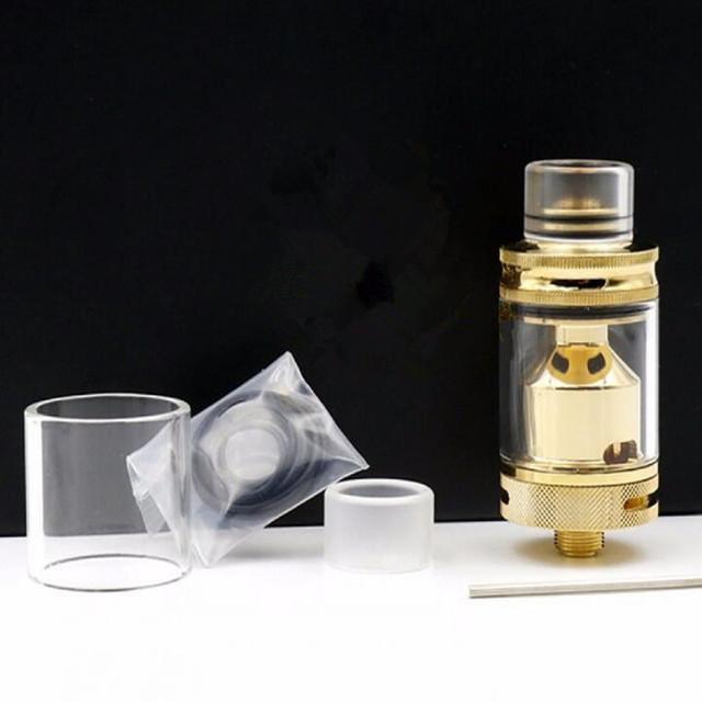 2017 mais novo 22mm + 24mm Cigarro Eletrônico TANQUE RTA 24 K OURO gotejamento de vidro Vaporizador Atomizador 3 ml tip22mm atomizador cigarro vapor