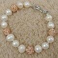 100% nature freshwater pearl bracelet with SHAMBHALA beads