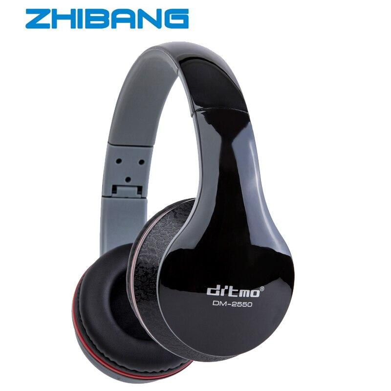 2017 ZHIBANG fashion headphones Detachable 3.5mm stereo Plug earphone Deep Bass for gaming headset