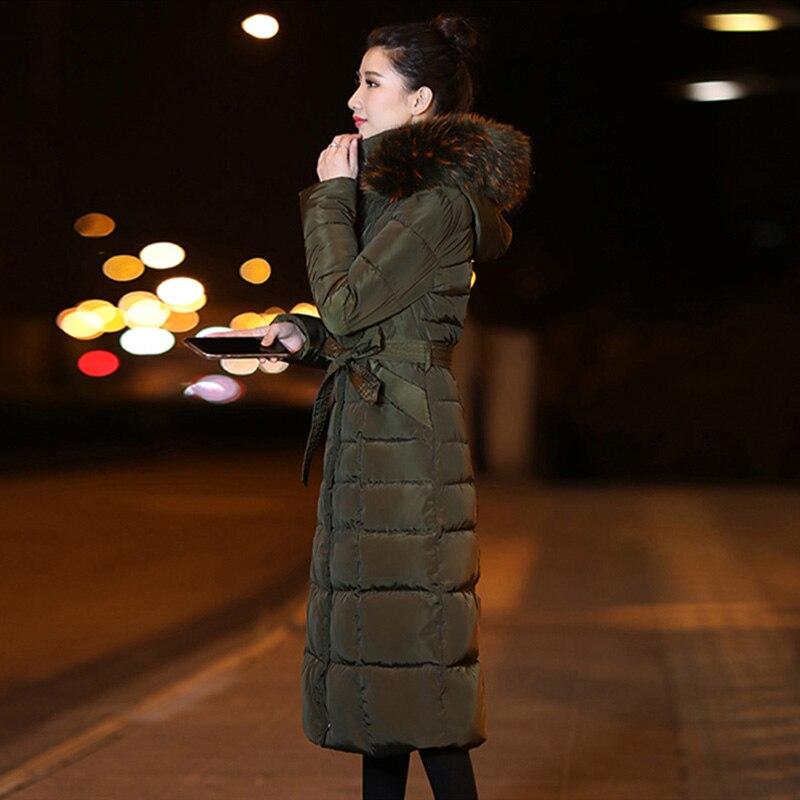 Bas army Manteau Green marron Long Vers D'hiver noir Parka Le Beige Coton Grand Épaissie Dames Slim Veste rouge Femmes Couture Fourrure P5TqHwU