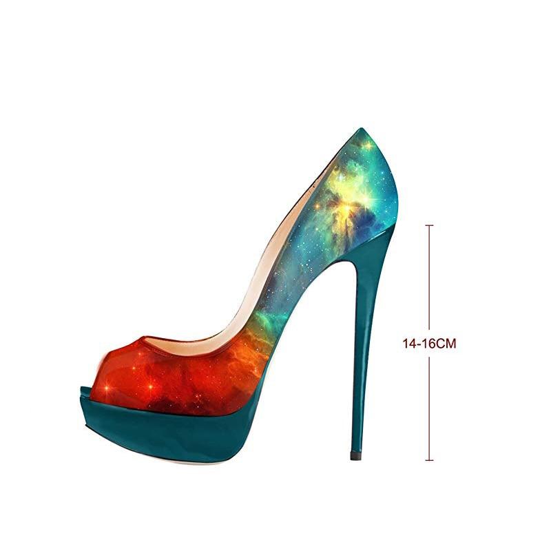 Haute Pompes 14 Chaussures Peep Oi0471 Partie Nous 13 16 Stiletto Cm Sexy Plate Des Automne Femme Femmes Printemps Toe Coloré Talons L'intention Initiale forme xwYqZ70C