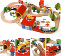 69pcs rail model building kits baby toy fishing cars plane people top quality best gift for kids