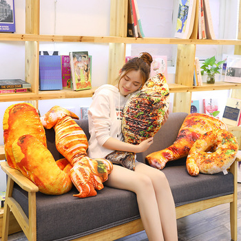 Candice guo plush toy stuffed doll animal simulational barbecue food Roast fish squid calamary pillow cushion office rest 1pc image