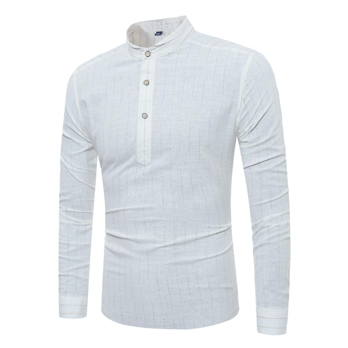 2017 new fashion font b men b font font b shirts b font solid stripe slim