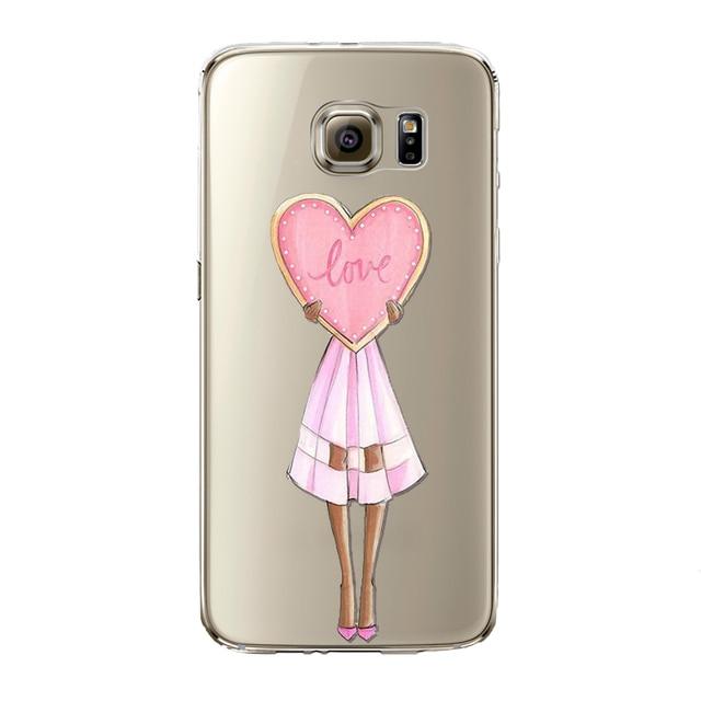 Sexy Modern Lady Girl Phone Case For Samsung Galaxy S5 S6 S6Edge S6edgeplus S7 S7edge