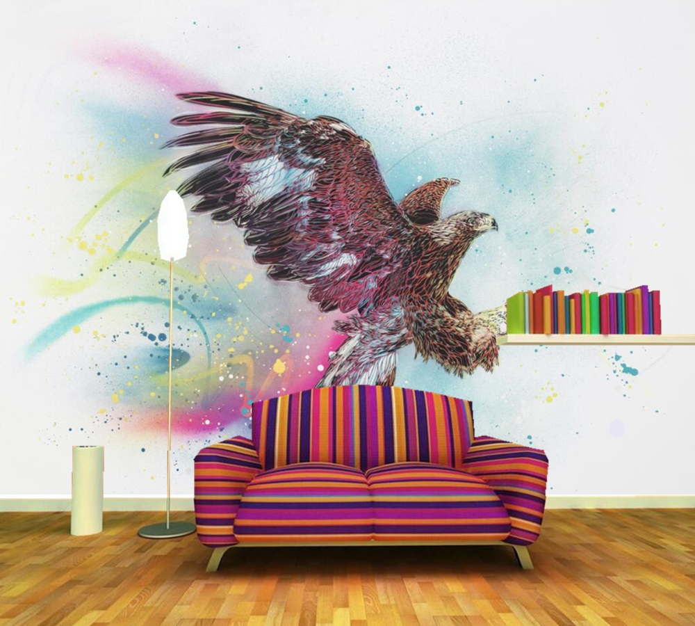 3d Photo Wallpaper Eagle Bedroom Living Room Sofa Tv Background Wall Mural Wall Paper Painting Supplies & Wall Treatments