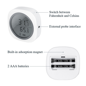 Image 3 - ワイヤレスbluetooth IBS TH1 プラス温度計 & 湿度計アンドロイド & ios用無料アプリ醸造肉植物シガー収納車