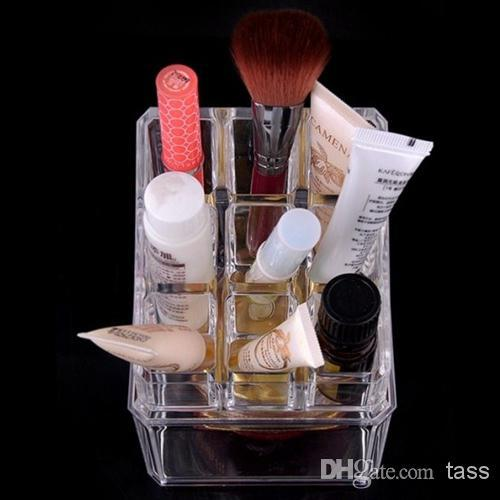 Clear Acrylic Cosmetic Jewellery Organizer Makeup Box Case Makeup Brushes Lipstick Holder|organizer makeup|box case|makeup box case - title=