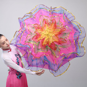 Image 1 - 무대 춤 우산 밸리 댄스 소품 무대 소품 팬 오프닝 댄스 우산 성능 꽃 우산 중국어 우산