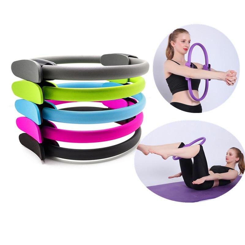 Pilates Yoga Circle Fiberglass Crescent Polychromatic Yoga Ring Handles Pilates Circle Magic Circle