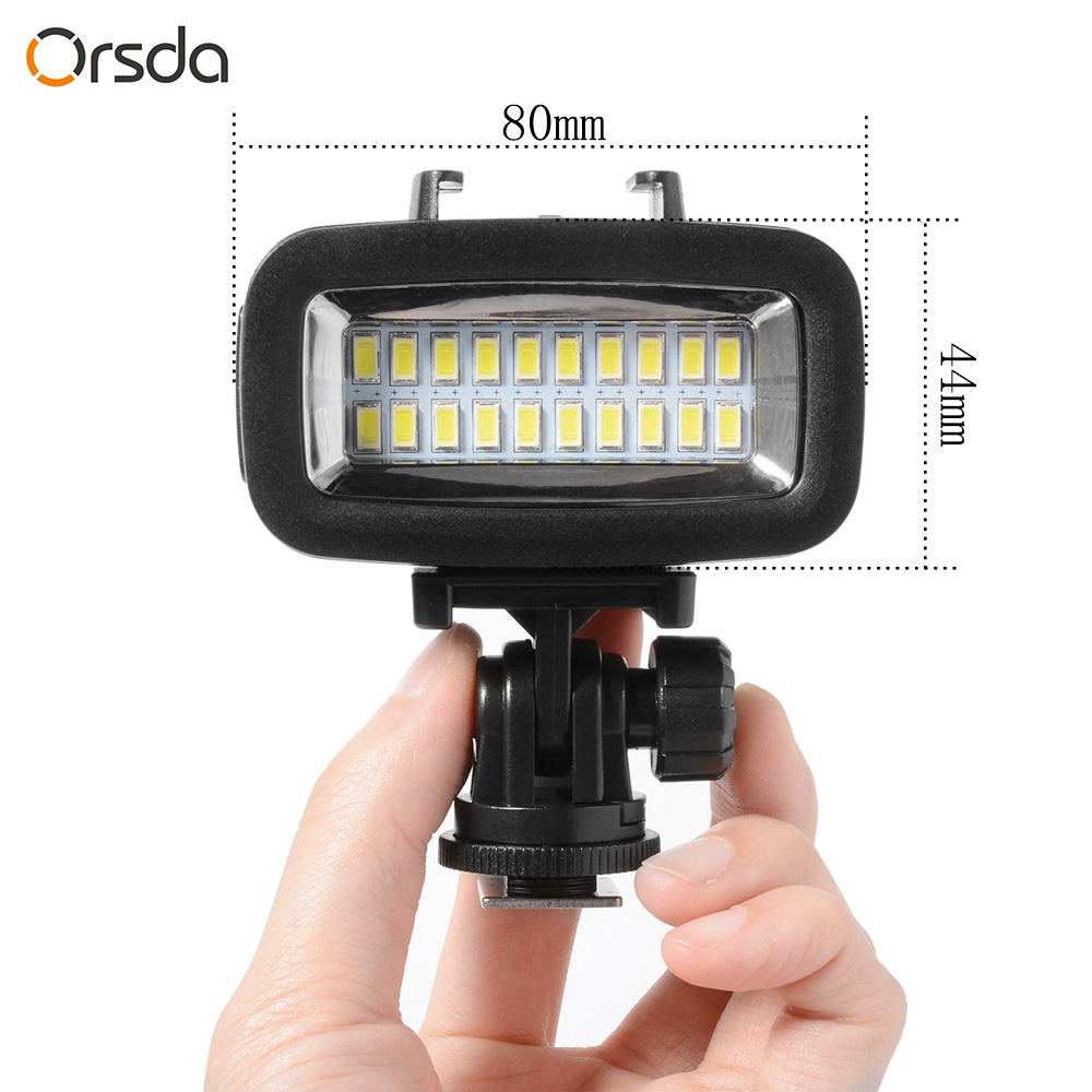 Image 3 - Orsda Diving Light Video LED High Power Outdoor Waterproof Lamp For GoPro SJCAM Sports Action Cameras flash gopro Lights-in Sports Camcorder Cases from Consumer Electronics