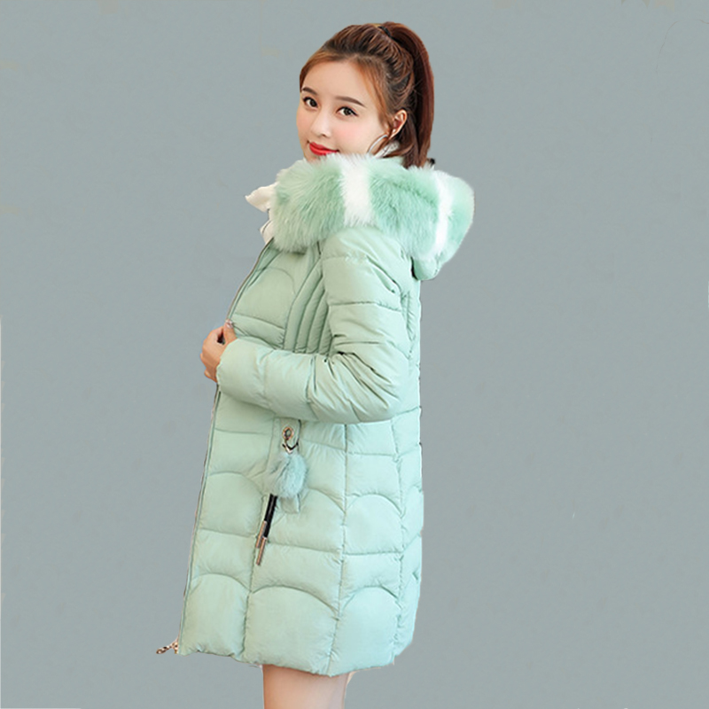 New 2019 Winter Faux Fur   Parkas   Women Down Jacket Women Thick Snow Wear Winter Coat Lady Clothing Female Jackets   Parkas