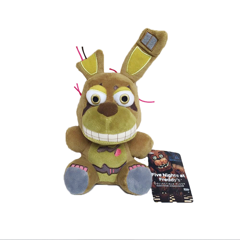 18cm Freddy Plush Toys Five Nights at Freddy 4 FNAF Nightmare Freddy Fazbear Bear Plush Stuffed Toys Doll Gift for Kids Children five nights at freddy plush toys fnaf freddy rabbit plush stuffed animal kids toys 25cm