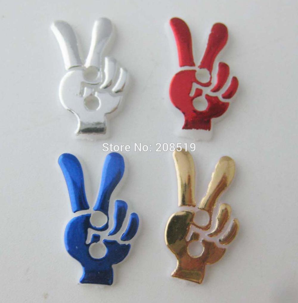 NBNLNA Fashion buttons children clothes sewing supplies 120 pieces OK Yeah Shape charm button DIY use